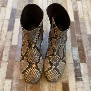J. Crew Leather Snakeskin Boots